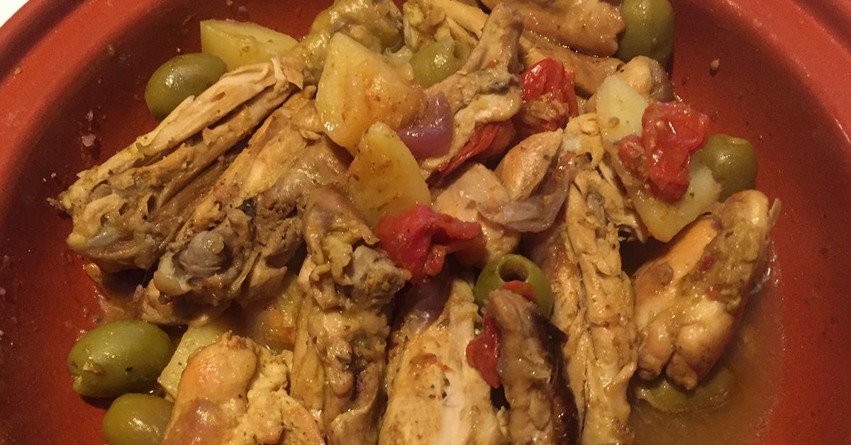 Mqualli, Tajine di pollo limone e olive